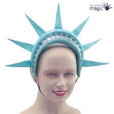 Statue Of Liberty Crown Headpiece American USA New York Headband Fancy Dress Hat