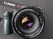 Minolta Rokkor-PF 50mm F:1.7 MC-X series f/ Sony NEX, Canon Nikon, Pentax m4/3