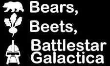 BEARS BEETS BATTLESTAR GALACTICA Office Dwight Schrute Vinyl decal/sticker