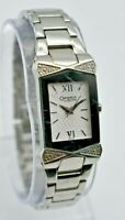 Ladies CARAVELLE by Bulova Silver Tone Diamond Accent Bracelet Watch, 43R002