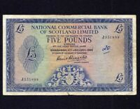 Scotland National Commercial Bank 5 Pounds 1966 P-272