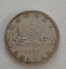 1965 Canada Commemorative Voyageur 1 Dollar Silver Coin