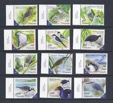 Vanuatu 2012 Uccelli Ordinari Set Completo di 12 VF Nuovo senza Linguella