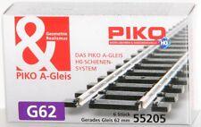 PIKO H0 55205-s VÍAS RECTAS G62, longitud 62mm (6 piezas) -NUEVO+emb.orig