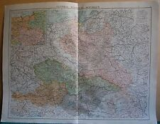 1919 LARGE MAP- EUROPE-CENTRAL EUROPEAN REPUBLICS,POLAND,AUSTRIA,INSET 1914 POSI