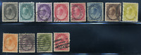 Canada #74-84,88 used F+/VF 1898-1902 Queen Victoria Numeral Issue Set CV$315.30