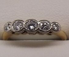 SOLID 18CT YELLOW GOLD NATURAL DIAMOND RING VALUED AT $1568