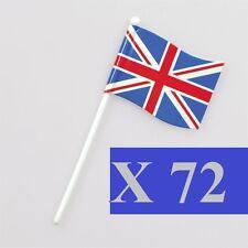 72 Union Jack British Sandwich Party Flag Food Cup Cake Cocktail Sticks Picks