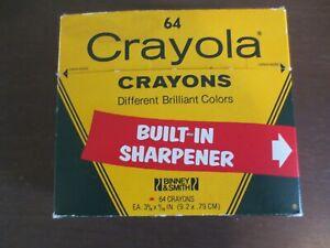 *Vintage* 1980's Crayola Crayons 64 Sharpener Box w/ Indian Red COMPLETE