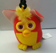 "FURBY KEY CHAIN 2000 McD Red Yellow 3 1/2"" Tiger Electronics"