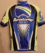 Vomax Team Anadarko Cycling Jersey Mens Medium Blue Yellow Short Sleeves 2004
