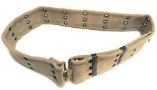 Vintage Khaki M1936 Style Pistol Belt Heavy Cotton Canvas
