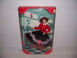 1999 Mattel Coca-Cola Barbie Doll Brunette # 24637  NRFB