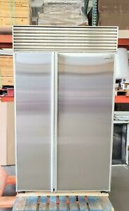 """SUB-ZERO 48"""" REFURBISHED REFRIGERATOR WITH PERFECT STAINLESS DOORS @ DISCOUNTED!"""