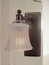 Hampton Bay Kenning 1-Light Dutch Bronze Bath Sconce Vanity Light Fixture-NIB