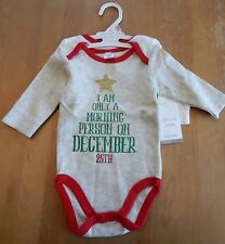 Modern Baby Christmas Stars Unisex Bodysuits Set of 2 6-9 Months