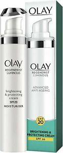 OLAY Regenerist Luminous Brightenig & Protecting Cream, SPF20 50ML NEW PACK