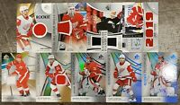 2019-20 SP GAME USED 9x RED WINGS JERSEY AUTO LOT ZADINA HIROSE FULCHER LARKIN