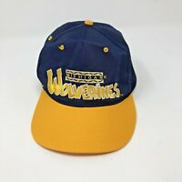 Vintage Michigan Wolverines Snapback Cap Hat One Size Fits All Spellout 90's