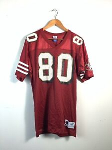 VTG 90s Red Champion Jerry Rice #80 San Francisco 49ers NFL Football Jersey 40