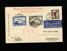 Zeppelin Sieger 30Ad 1929 Round the World Flight Germany Post Round Trip