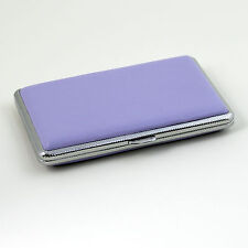 Violet Leather Slim Cigarette Case Box 100's Hold For 14 100mm Cigarettes 308