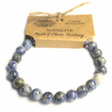 Brand new real gemstone power bracelets, Sodalite. truth & clear thinking.