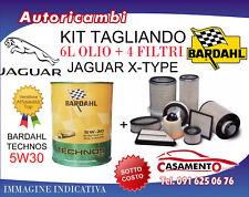 KIT TAGLIANDO JAGUAR X-TYPE 2.2 DIESEL 114KW- 4 FILTRI + 6L OLIO BARDAHL 5W30