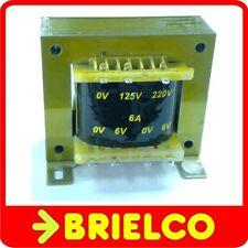 TRANSFORMADOR DE ALIMENTACION 220V AC A 6V+6V 6A 12V 3A CHASIS ABIERTO BD8292