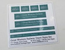 OO Scale Great Western Railway GWR Depot Sign Set - Your Choice of Name