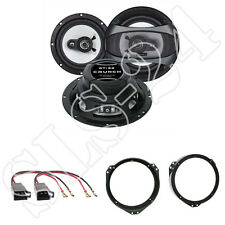 Crunch GTi62 Lautsprecher 180W für Opel Astra F/G, Omega B, + Ringe + Adapter
