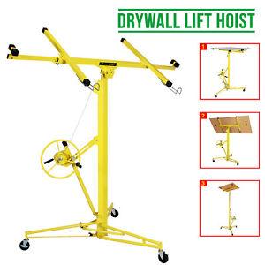 Heavy Duty Tool Drywall Hoist Caster 16FT Lift/Lifter Plaster Board Panel Sheet