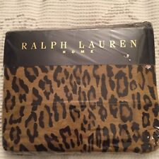 RALPH LAUREN CLASSIC ARAGON GUINEVERE GALAHAD LEOPARD PRINT Twin Flat Sheet  NIP