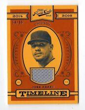 José Abreu Mlb 2016 cortes de primera línea de tiempo materiales #/99 (Chicago White Sox)