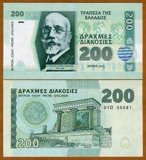 Greece 200 Drachma Drachmas Drachmai 2015 SPECIMEN Matej Gabris Banknote Hologra