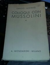 Colloqui con Mussolini-emilio ludwig-mondadori s.d.