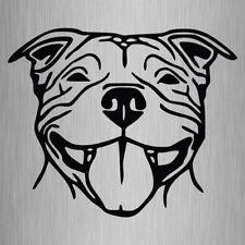 Staffy Head Sticker Staffordshire Bull Terrier Vinyl Car Decal 240mm x 200mm