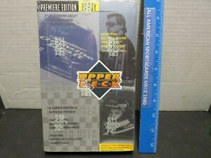 1995 UPPER DECK MOTORSPORTS SEALED BOX MINT (MICHAEL JORDAN PARALLEL GOLD CARD)