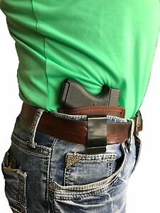 COLT GOVERNMENT 380 BROWN LEATHER CONCEALED IWB HOLSTER
