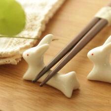 Japanese Ceramic Ware Rabbit Chopstick Stand Rest Rack Spoon Fork Holder New