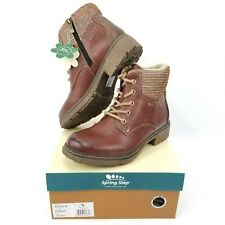 Spring Step Womens EU 40 / US 9 Marylee Sherpa Lined Winter Ankle Boot Zip &Lace