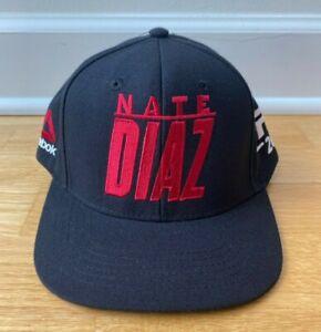 Nate Diaz Diaz Brothers UFC 202 Reebok Hat Red on Black - Very Rare
