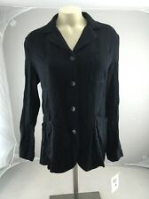 NWT Esprit Black button up long sleeve blouse Top Small casual dressy USA MADE