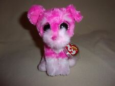 "TY MWMT CHERRY THE PINK DOG BEANIE BOO- 6"" BEANIE BOOS- CLAIRE'S EXCLUSIVE- CUTE"