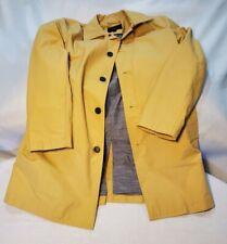 Banana Republic Mens Jacket yellow khaki tan rain coat trench MEDIUM EUC