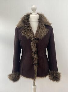 Vintage Y2K 90's DOROTHY PERKINS Fur Shaggy AFGHAN Jacket SIZE 12 Penny Lane