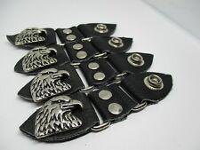 Eagle Vest Extenders Leather 4.5 inches long Biker vest Harley Rider SET OF 4