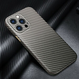 Carbon Fiber Leather Case For iPhone 13 12 11 Pro Max XS XR 8 7 Plus Ultra Slim