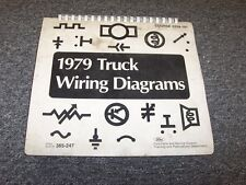 1979 Ford B500 B600 B750 B6000 B Series Electrical Wiring Diagram Manual