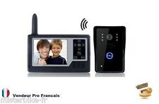 "Interphone Portier Visiophone Vidéo Sans Fil 2.4GHz Ecran 3.5"" TFT Infra-rouge N"